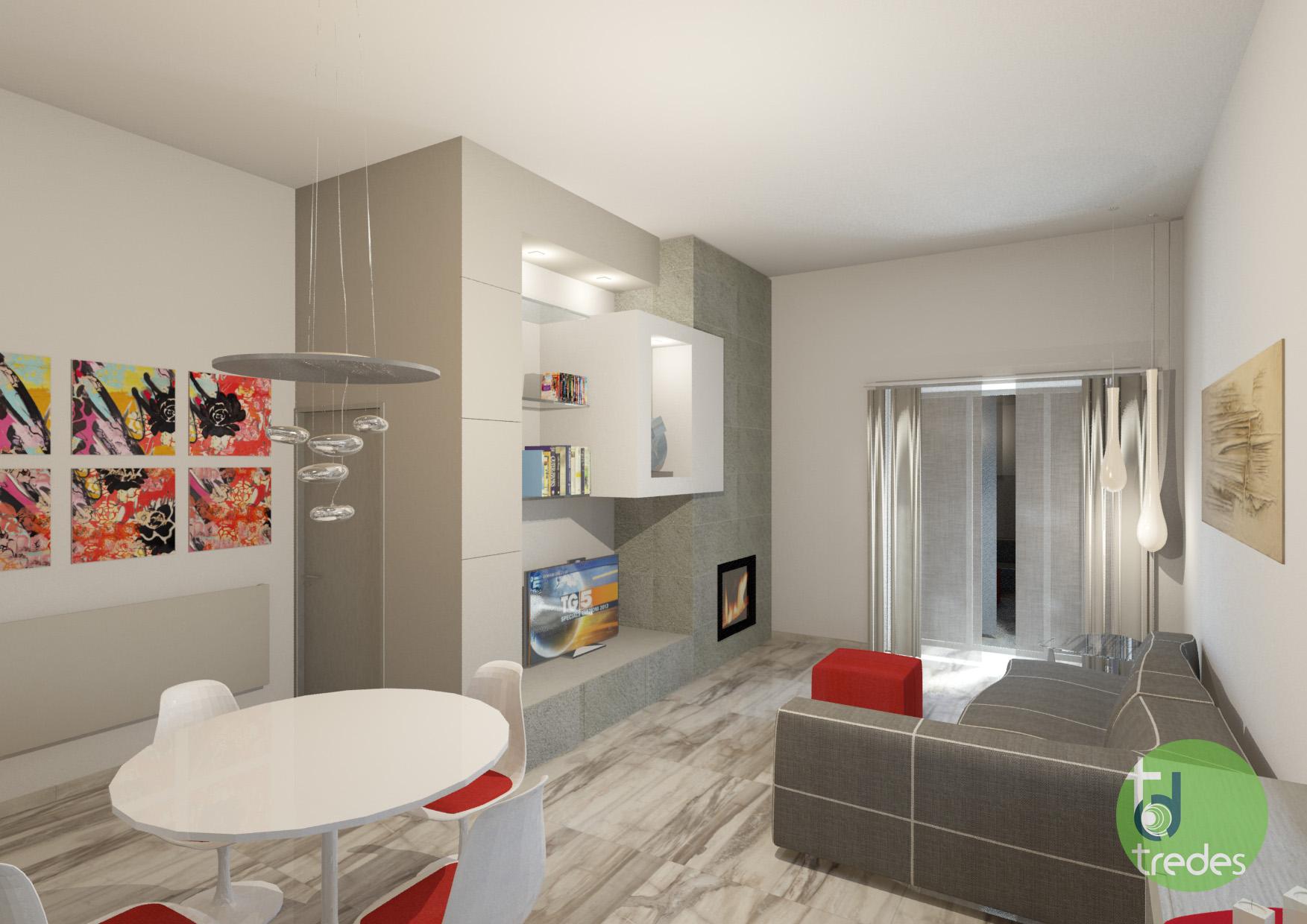 Progetto 3d casa moderna tredes - Progetto casa moderna ...